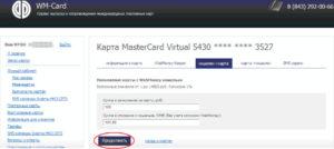 пополнить виртуальные карты Visa Webmoney