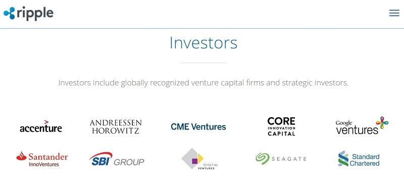 инвесторы проекта Ripple