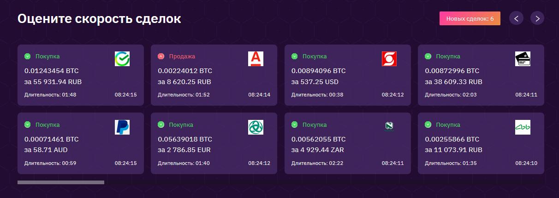Скорость транзакций на CryptoLocal