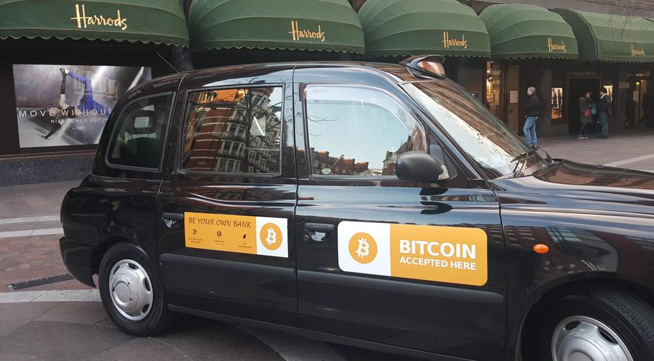 Оплата за проезд в такси биткоинами