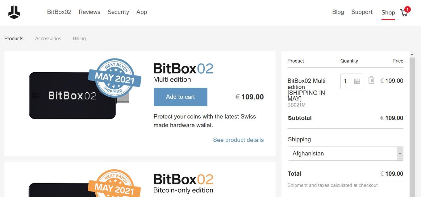 Аппаратный кошелек BitBox02