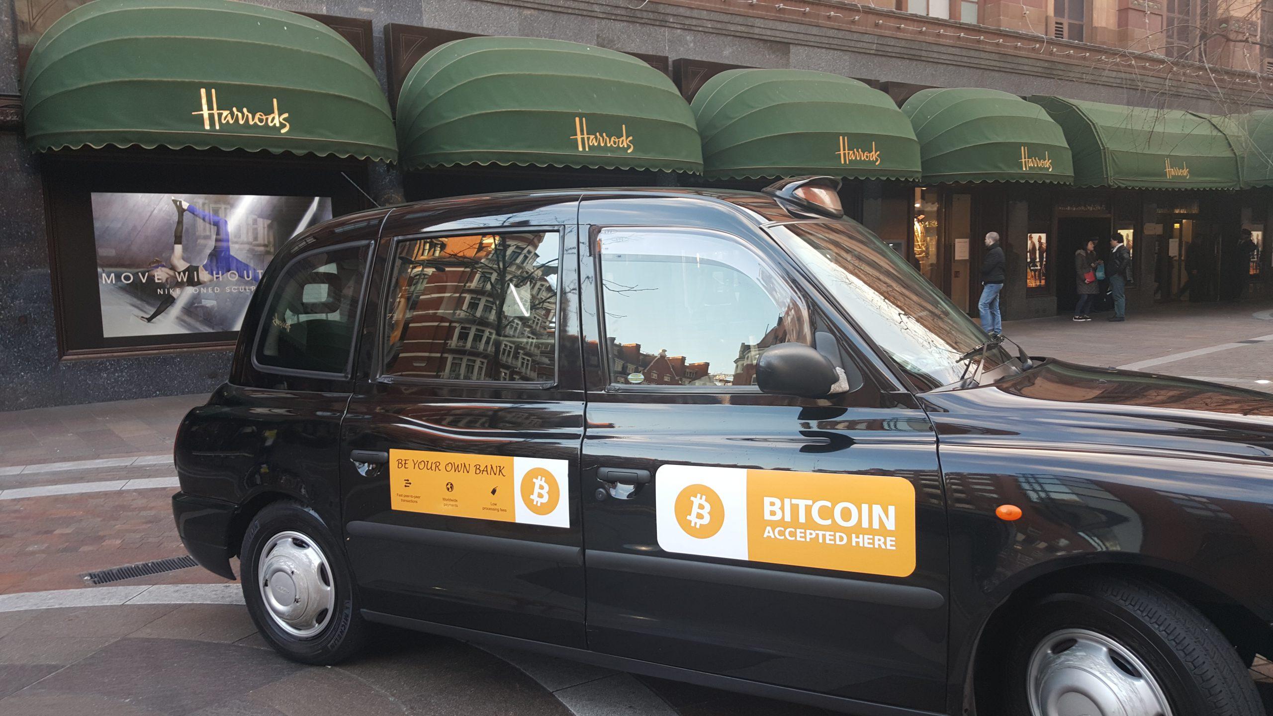 В такси можно расплатится криптовалютой